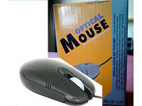 Brand New Optical Scrollwheel Notebook USB Mouse (Black)