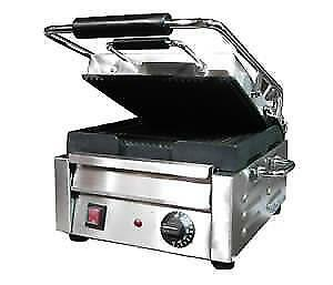PANINI GRILL NEW SMALL RIBBED .*RESTAURANT EQUIPMENT PARTS SMALLWARES HOODS AND MORE*