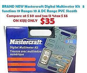 BRAND NEW Mastercraft Digital Multimeter Kit with 5 functions, 19 Ranges, 10 A DC Range , PVC Sheath