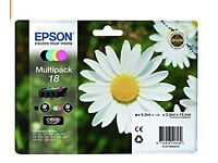 2 x Epson Multipack 18 For Expression Home printers. Black, cyan, magenta, yellow XP 30 - XP 425