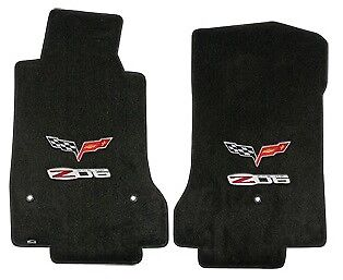 C6 Corvette 2007L Lloyds Ultimat Front Floor Mats Z06 Logo and Crossed Flags for sale  Shipping to Canada