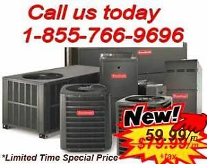RENT-TO-OWN FURNACE OR A/C. FREE INSTALL. 24/7 SERVICE AVAILABLE. ANY CREDIT APPROVAL. CALL US AT 1-855-766-9696