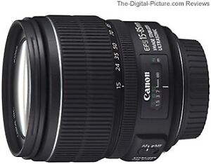 Canon lentille 15-85 mm f3.5/5.6 usm is + filtres