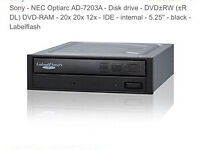 Sony NEC AD-7203A Lableflash DVD RW CD dricd