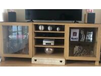 2 x IKEA Besta unit / sideboard oak