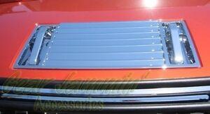 03-09 Hummer H2 Chrome Replacement Hood Deck Vent Panel & handles