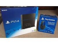 Brand new PS4 console and headset