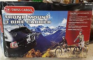 Swiss Cargo trunk mount 3 bike carrier