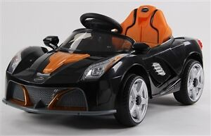 Child Ride On Car w 12V Battery, Doors, Remote, MP3 Input, Music