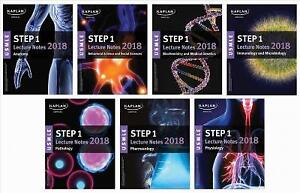 Kaplan Step 1 USMLE Medical School Textbooks (2018)
