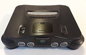 Charcoal Grey N64 Console and Power Plug