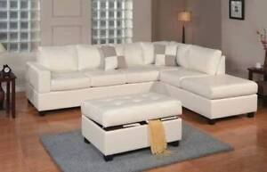 **GUMTREE OFFER**BONDED LEATHER CHAISE SOFA FREE OTTOMAN Bayswater Bayswater Area Preview