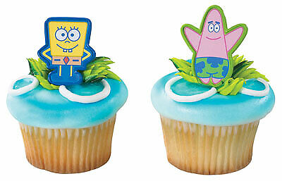 Spongebob Cupcake Toppers (New Cake Toppers Spongebob and Patrick Cupcake Picks One Dozen Pencil)