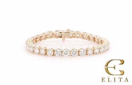 "Gold Diamond Tennis Bracelet 50 Pointer 7"" Length 16.70 Carats"