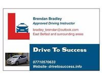 Driving Instruction with a highly experienced driving instructor In the Belfast area