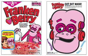 General Mills Monster Cereals BOO BERRY FRANKENBERRY Halloween