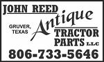 John Reed Antique Tractor Parts