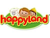 HAPPYLAND: Play mat/box, Bakery & Tea Rooms, Florist, Grocers and vet