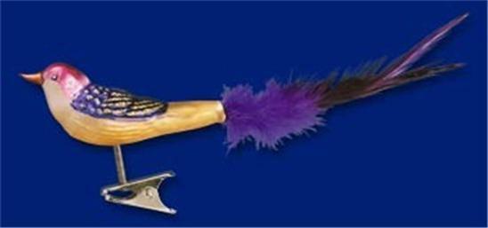 MINI LOVEBIRD OLD WORLD CHRISTMAS BLOWN GLASS CLIP ON BIRD ORNAMENT NWT 18005
