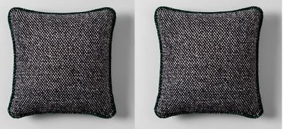 2 Hearth & Hand Magnolia Knit Wool Toss Throw Pillows Black by Joanna Gaines (2 Toss Pillows)