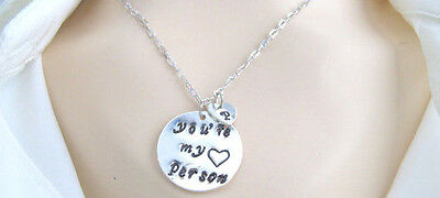You are my person necklace Best Friend Gift Personalized Initial Grey's Anatomy