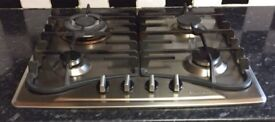 Baumatic gas hob (good condition) stainless steel. Works perfectly fine