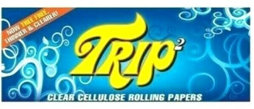 Trip 2 Rolling Papers Clear 1 1/4 Trip2 Buy 4@$2.00/PK! 50/Lvs/Pack USA Shipper