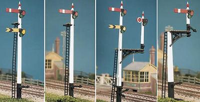 Ratio 466 GWR Square Post Signal Kit (Makes 8 Signals) '00' Gauge Kit - T48 Post