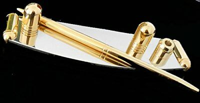 Nib Desktop Business Card And Pen Holder With Pen Two Tone Goldsilver New