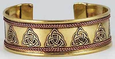 Copper & Brass TRIQUETRA Adjustable Bracelet