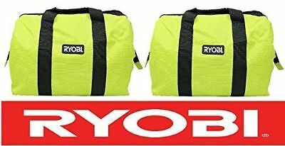 2  Ryobi Large Contractors Wide Mouth Canvas Tool Bags 18X14x12
