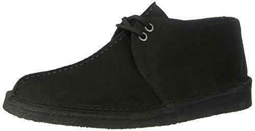 Clarks Originals Desert Trek-Core Men's Center Stitch Suede Shoes 26133287 Black