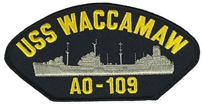 USS WACCAMAW AO-109 PATCH USN NAVY SHIP CIMARRON CLASS REPLENISHMENT OILER