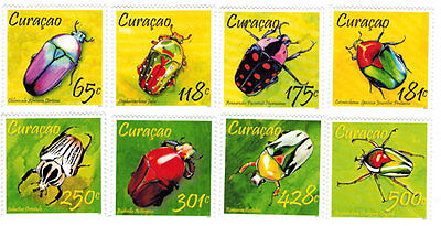 Curacao - Insects, Beetles, 2013 - Set of 8 MNH
