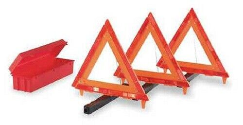 Cortina Emergency Warning Triangle Kit, 95-03-010G, Meets FMVSS 125,SAE-W4-74DOT