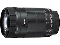 canon 55mm to 250mm stm lense with image stabilisation
