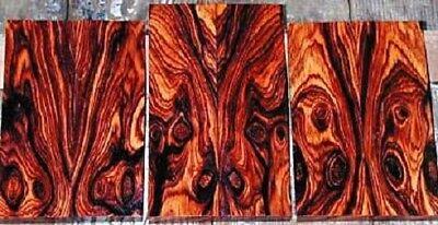 Exotic Dalbergia Retusa Cocobolo Highly Figured Wood Turning Blank SUPER DEAL