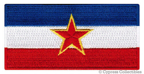 YUGOSLAVIA FLAG embroidered iron-on PATCH SERBIAN EMBLEM applique BALKANS SFR