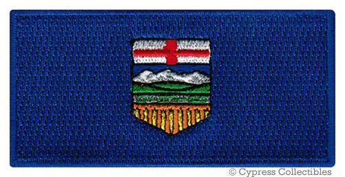 ALBERTA PROVINCE FLAG PATCH CANADA EMBROIDERED IRON-ON Canadian National Emblem - $1.99