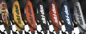 Ski-Doo-New-OEM-Front-Shock-Protector-Sleeve-Cover-PAIR-Black-860201128