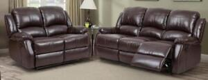 NEW in Boxes!!!  3PC Reclining Sofa Set in Brown or Black. Set Includes Sofa,Love Seat and Chair*Layaway Plans Available