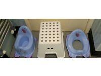 FREE Toilet Training Items - 1 x Potty - 1 x Toddler Toilet Seat - 1 x Stepping Stool - SEE PHOTO