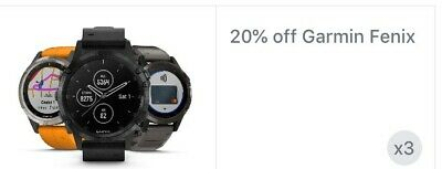 Garmin Fenix Series 20% Promo Discount CODE--Works! Read Within