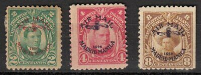 (GS502) PHILIPPINES - USA. MADRID-MANILA 2c, 4c, 8c. Mint