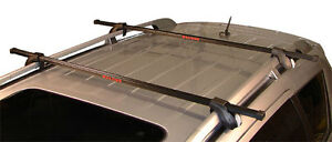 Lockable roof rack system for kayaks, skis, snowboards, bikes