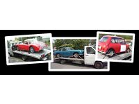 Vehicle Delivery collection service - Bournemouth - Classic cars - Modern