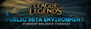 [PBE ACCOUNT] Leauge Of Legends