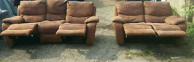 Harvey's suede leather recliners Belair: