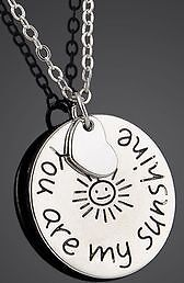 New- You Are My Sunshine- Pendant Necklace. Stainless Steel