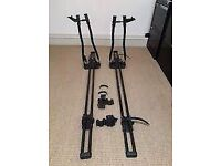 Honda CR-V 2007-20011 Thule Roof Bars with 2 Halford Roof Mount Cycle Carriers
